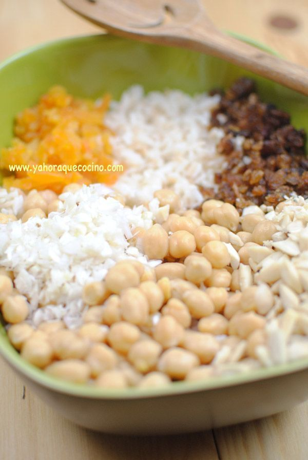 Ingredientes Ensalada de Arroz y Garbanzos